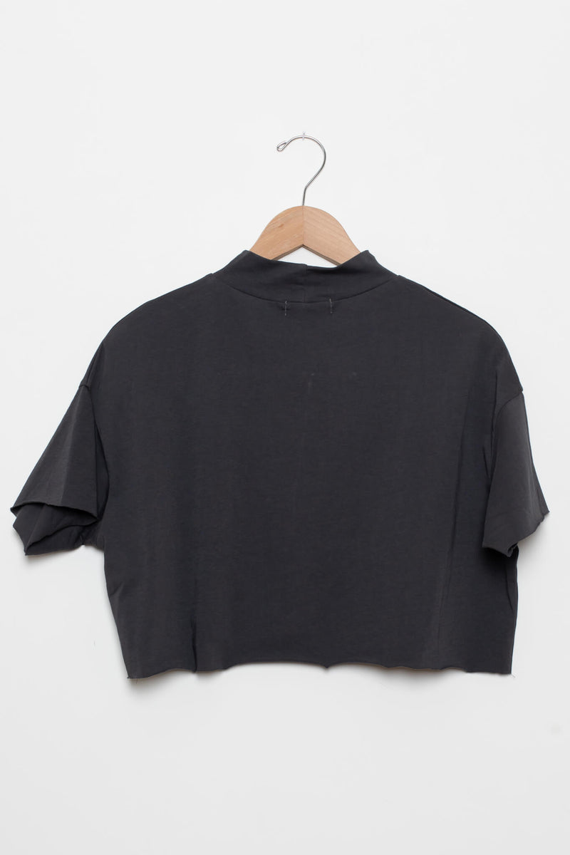 Cotton Cropped Turtleneck tshirt