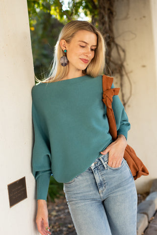 soft blue sweater
