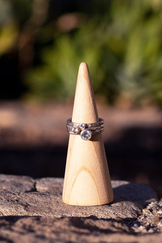 silver stacker ring