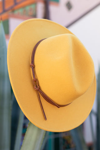 Mustard Billie Hat