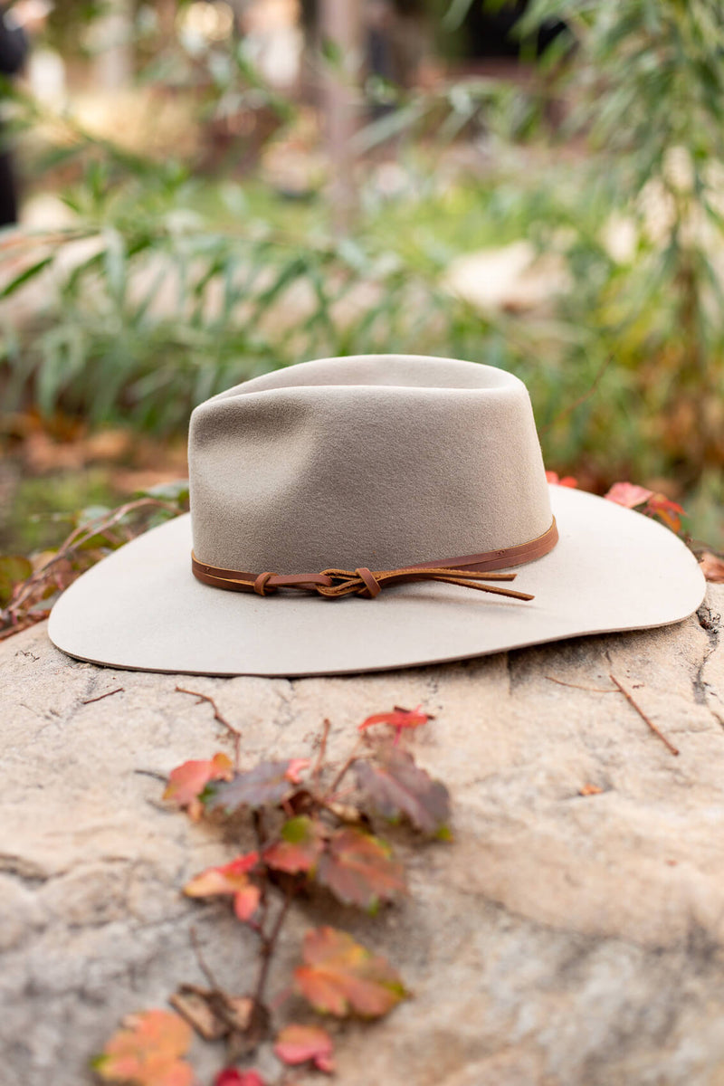 Hard Brim Hat with Leather Strap