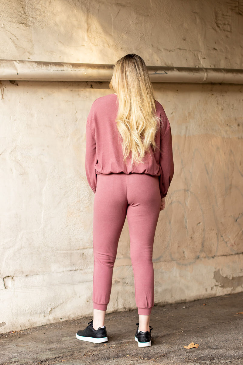 cute mauve sweatpants