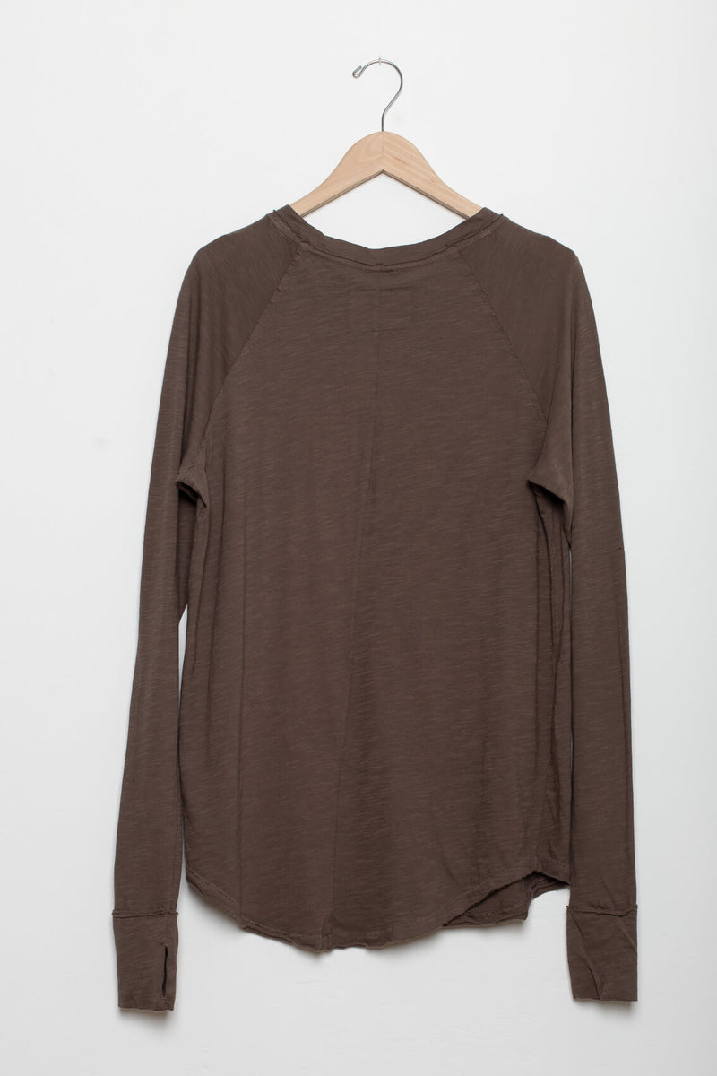Oversized slouchy long sleeve tee