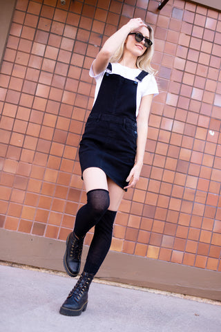 cute black skirt overall