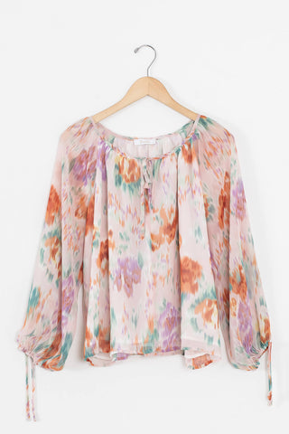 colorful flowy blouse