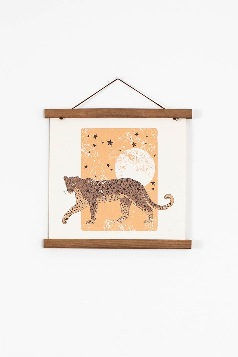 hipster tiger wall art