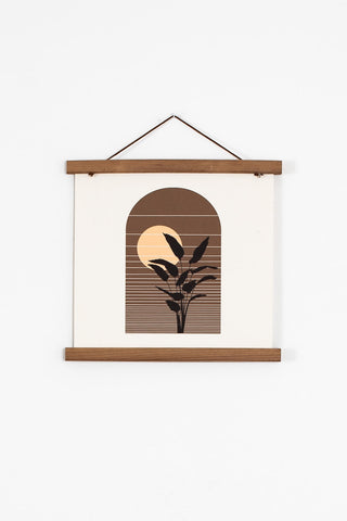 retro palm print wall art