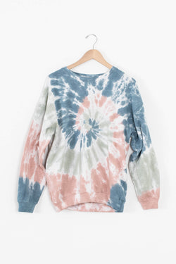 tie dye oversized sweater