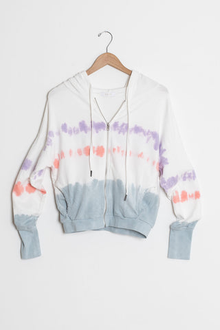 tie dye zip up hoodie for women