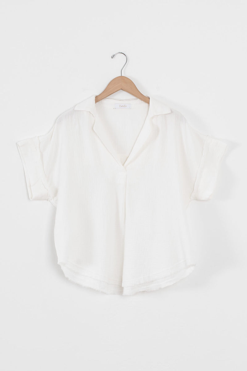 gauze cotton top for women