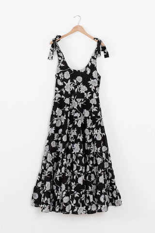 floral vacation maxi dress
