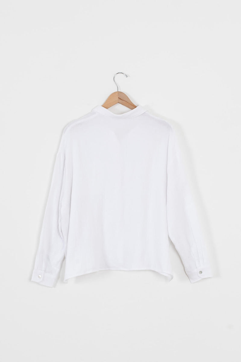 womens white button blouse