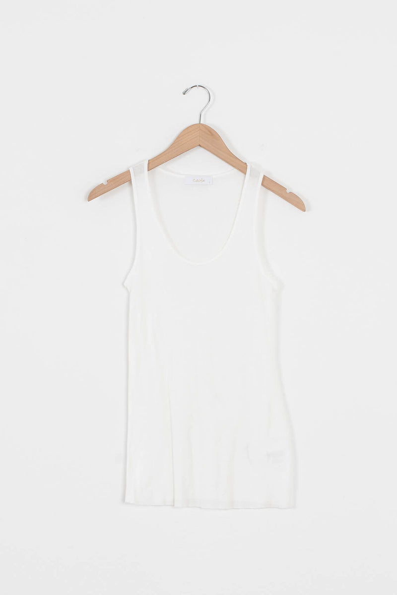 thin ribbed tank for women