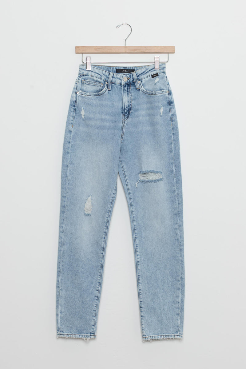 light wash distressed jeans