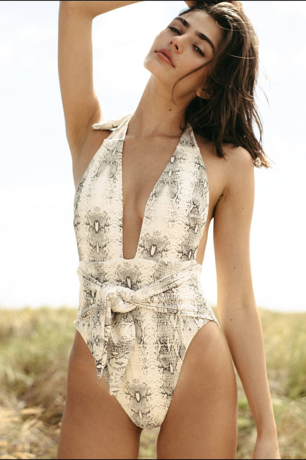 Montce Swim Tropez One Piece Snake Rib