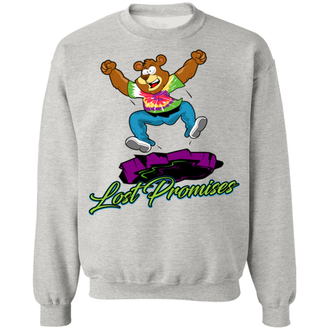 Lost Promises Dramatic Bear Crewneck Pullover Sweatshirt  8 oz.