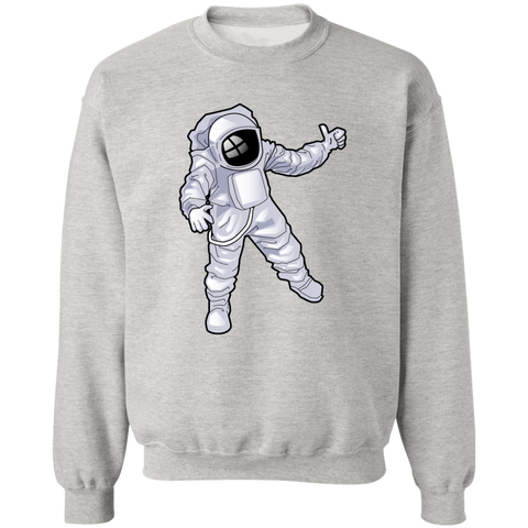 Man Over The Moon Crewneck Pullover Sweatshirt  8 oz.
