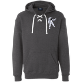 Man Over The Moon Heavyweight Sport Lace Hoodie