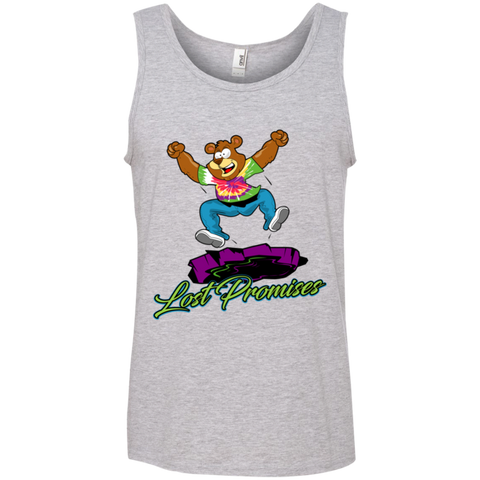 Lost Promises Dramatic Bear Ringspun Cotton Tank Top