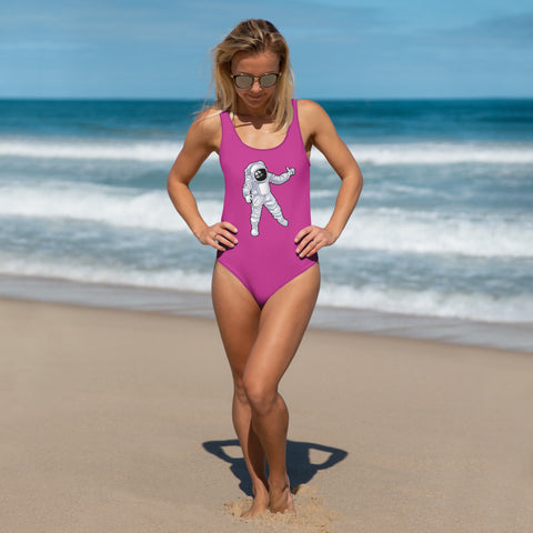 Lost Promises Man Over The Moon One-Piece Swimsuit
