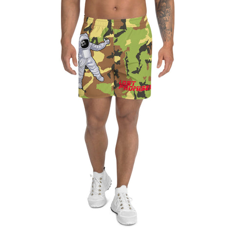 Camo Man Over The Moon Men's Athletic Long Shorts