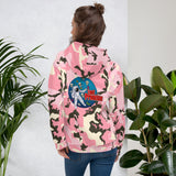 Pink Camo Man Over The Moon Unisex Hoodie