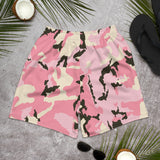 Pink Camo Man Over The Moon Men's Athletic Long Shorts