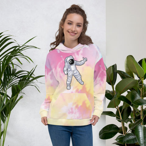 Tie Dye Man Over The Moon Unisex Hoodie