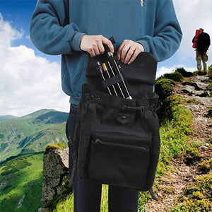 Aluminum Alloy Folding &  Non-Slip Telescopic Stick Trekking Pole For Outdoor Hiking