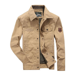 Free Shipping Now-Men's Casual Canvas Cotton Lapel Jacket