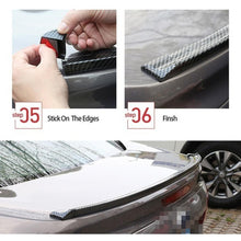 Load image into Gallery viewer, 1.5M Universal 3D  Carbon Fiber Rear Roof Trunk Spoiler Wing Tail Lip Trim