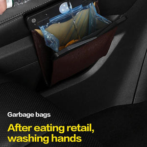 LED Car Trash Can Organizer Garbage Holder