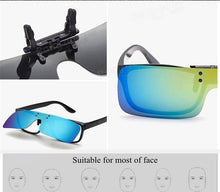 Load image into Gallery viewer, Unisex UV400 Polarized Sunglasses Clips Outdoor Driving Riding Night Vision Lens Myopia Glasses Clips