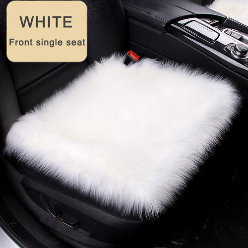 Winter Universal Car Seat Cover Cushion  Wool Warmer Pad