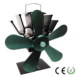 Professional Silent Fireplace Heating Power Fan Eco-Friendly Fuel Wood Burner