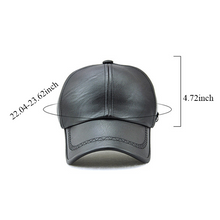Load image into Gallery viewer, Men's Leather Baseball Caps Outdoor Hats