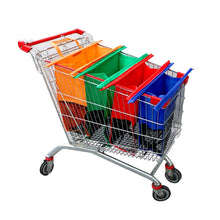 Load image into Gallery viewer, 4-in-1 Reusable Grocery Bag and Shopping Cart Bags