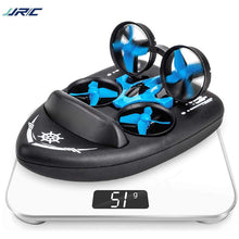 Load image into Gallery viewer, JJRC H36F Mini Drone Vehicle Boat 3 in 1 RC Quadcopter with Headless Mode 2.4G Remote Control One Key Return 360°Flips Roll Stunt 2 Speed Mode and 3 Batteries