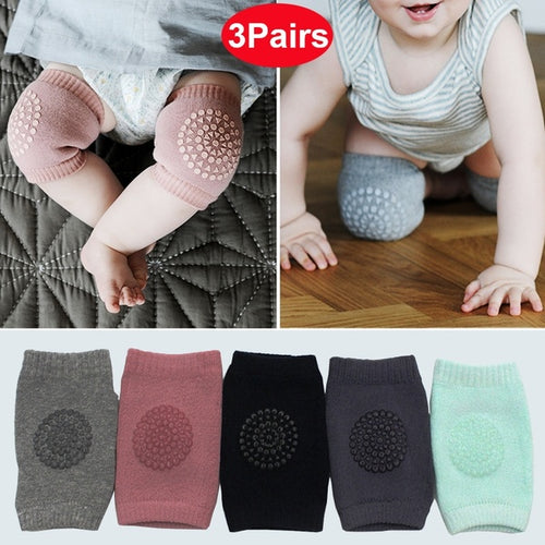 3 Pairs Baby Safety Breathable Comfortable Crawling Knee Pad