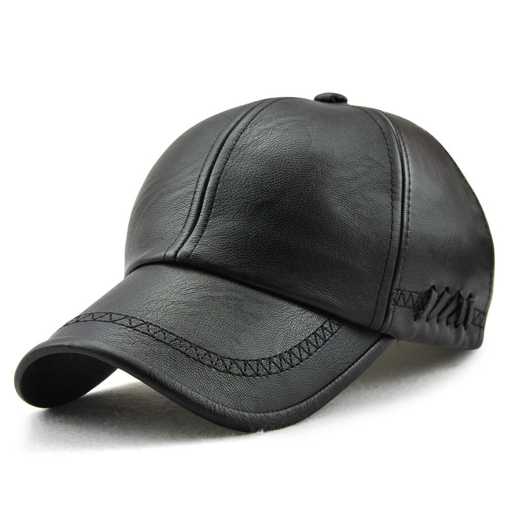 Men's Leather Baseball Caps Outdoor Hats