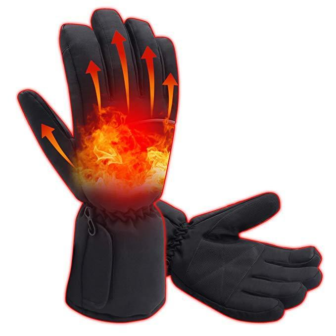 Winter Outdoor Warm Electric Rechargeable Heated Gloves