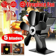 Load image into Gallery viewer, Professional Silent Fireplace Heating Power Fan Eco-Friendly Fuel Wood Burner