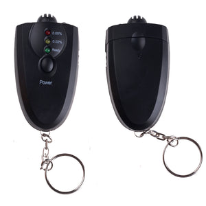 Small Black Key Chain Alcohol Tester