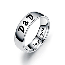 Load image into Gallery viewer, Love Mom Dad Son Daughter Ring