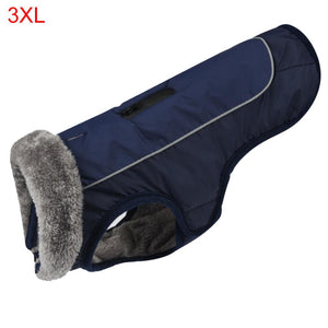 Pet Fur Warm Collar Reflective & Waterproof Clothes