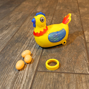 Robotic Chicken Toy, Dances Around And Randomly Lays Egg Around Your Home