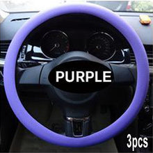 Load image into Gallery viewer, Anti-slip Silicone Car Steering Wheel Protective Cover