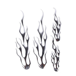 Generic 4 PCS Flame Pattern Car Stickers