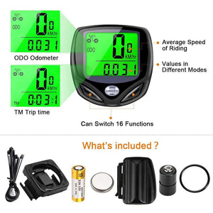 Multifunctional Waterproof Bicycle Tachometer Wireless Odometer