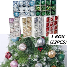 Load image into Gallery viewer, 12Pcs 5.5cm PVC Christmas Balls Ornaments For Xmas Tree Hanging Holiday Wedding Party Decorations